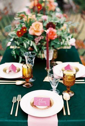 velvet wedding decor velvet table decor Orange Photographie