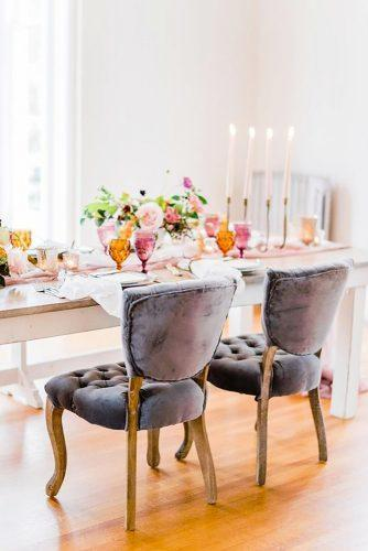 velvet wedding decor greey chairs ajdunlap
