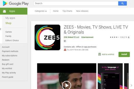 ZEE5 ORGINALS zee5 app
