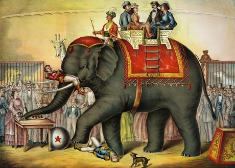 Image: Vintage Circus Print, by PublicDomainPictures on Pixabay