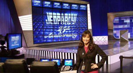 Image: Kelly from Jeopardy Clue Crew at the CES09 set, by Joseph Hunkins from Talent on Wikimedia.org