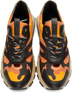 Some Color In Your Step:   Valentino Garavani Camo Bounce Sneakers