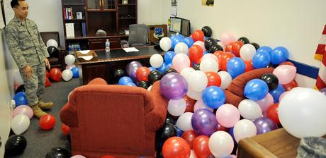 Image: April Fools' shenanigans, keeping morale high
