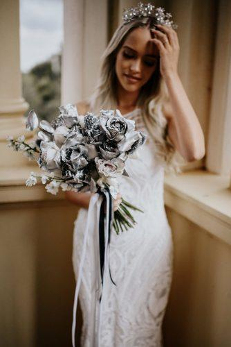 silver wedding decor ideas with roses and ribbons alannah liddell