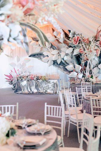 silver wedding decor ideas reception under tent with pink installations pinewood weddings