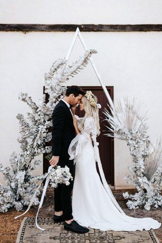 silver wedding decor ideas arch bohemian triangle alannah liddell