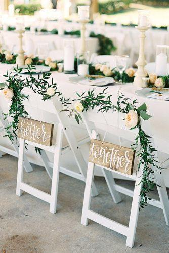 summer wedding trends reception details signs for chair kt crabb photography