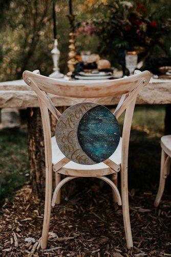 summer wedding trends chair sign bohemian with the moon elisa watkins