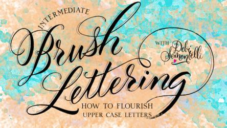 How to Flourish Upper Case Letters