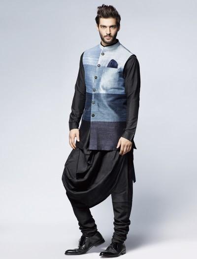 • Draped kurta styles with Blazers