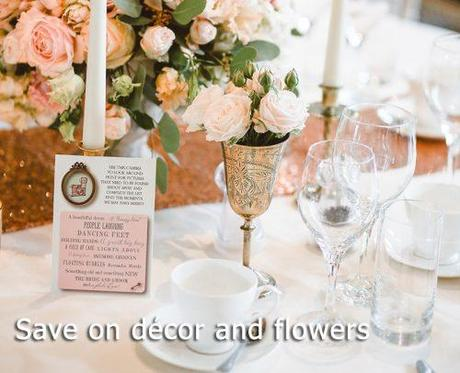 wedding on a budget wedding decor and flowers