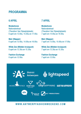 This weekend in Antwerp: 5th, 6th & 7th April