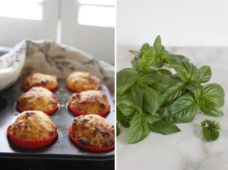 Quick and Easy Cheese Muffins with herbs