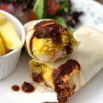 Vegan Breakfast Burritos with Chickpea Eggs