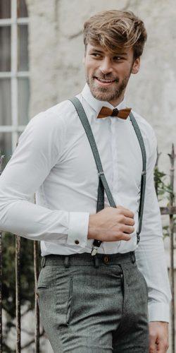 wedding dress code white shirt with suspenders bow tie country ladonnahochzeitsatelier