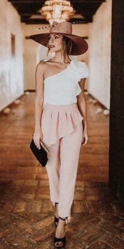 wedding dress code jumpsuits stylish assymetric neckline apparentia