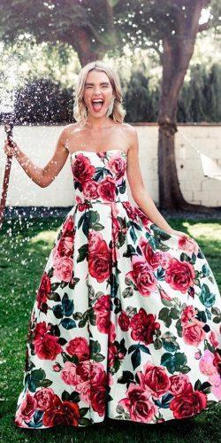 wedding dress code for beach long strapless with flower sherri hill