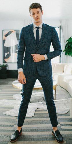 wedding dress code semi formal checked jacket naavy