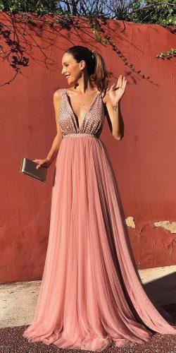 wedding dress code formal long deep v neckline rocio sorno