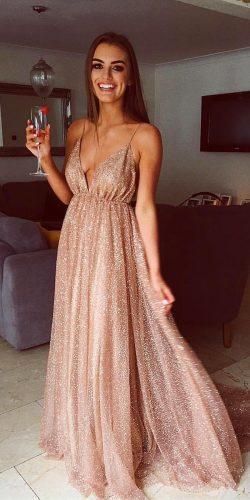 wedding dress code long with spaghetti straps sequins casual saidmhamadofficial