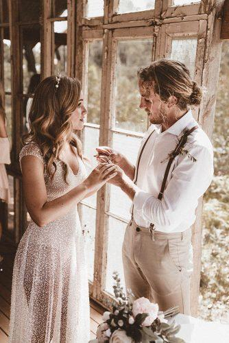 real wedding the woods of jervis put rings bay nathan lapham
