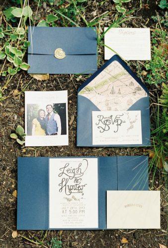 wedding splurges blue stationery marina koslow