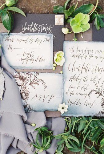 wedding splurges perfect gray invitations luna de mare photography