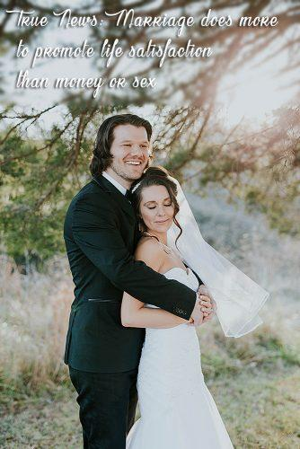 fun wedding facts happy bride and groom together