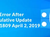 BSOD After Installing Cumulative Update Windows Version 1803 (April 2019)