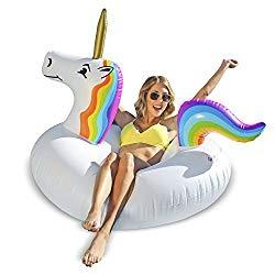 Image: GoFloats Unicorn Pool Float Party Tube - Inflatable Rafts, Adults and Kids   Enjoy the magic of summer with the fun and affordable GoFloats Unicorn Party Tube
