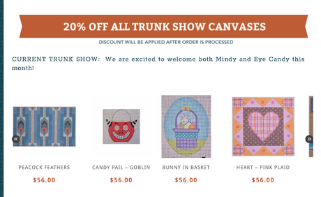 Trunk Show This Month At The Needlepointer!