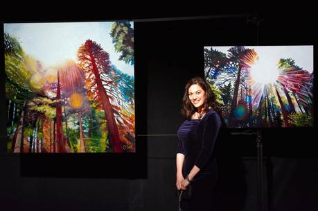 Pop-up art show in Portland