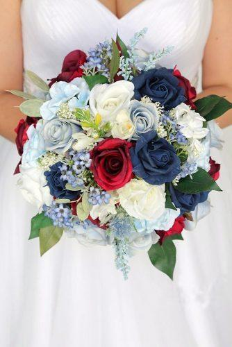independence day wedding bouquet with bright red white and blue roses 4th of july budgetbride