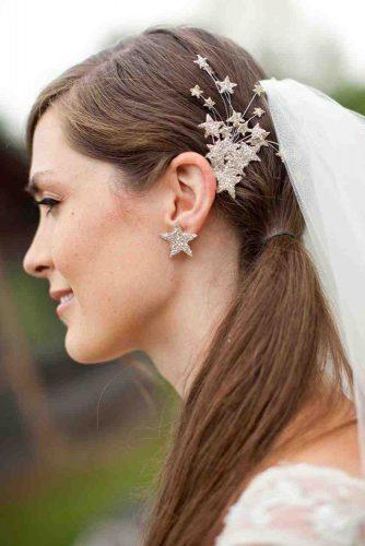 independence day wedding 4th of july bridal accessories hairpin with fireworks from golden stars sarahsmithphotography