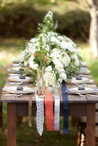 independence day wedding 4th of july white flowers wooden table with red blue white stripes timothy burke mannle – tbm photography