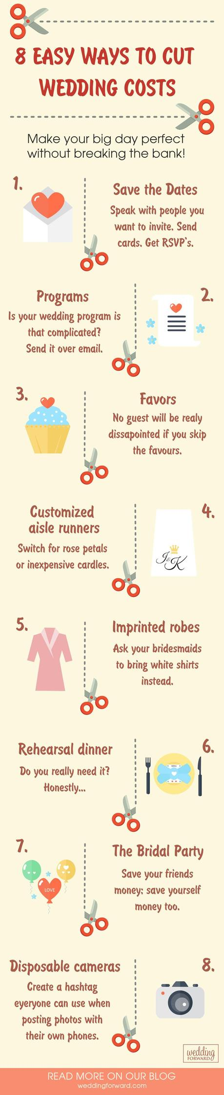 things to cut from your wedding and best wedding freebies saving money