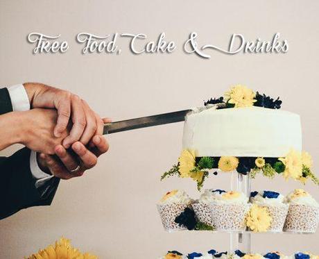 wedding freebies free food cake and drinks
