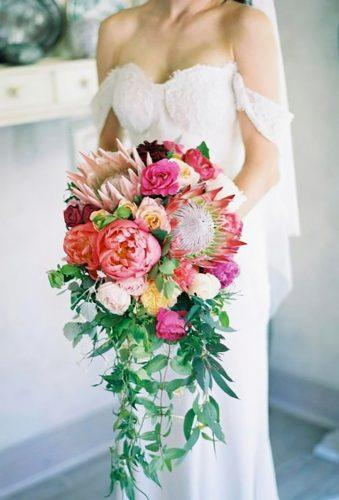 tropical wedding bouquets cascade bouquet bloomingbridal