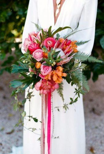 tropical wedding bouquets simple bouquet with tape e m anderson