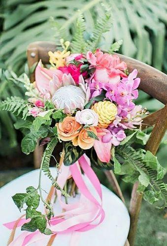 tropical wedding bouquets bouquet with tape mrandmrsweddingduo