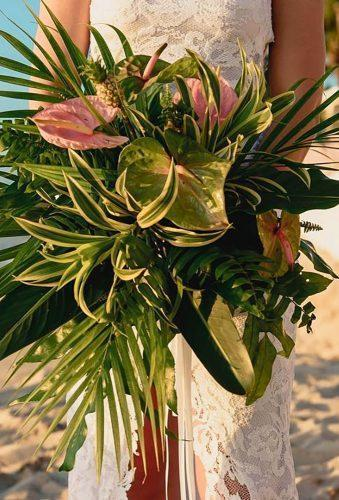 tropical wedding bouquets simple green bouquet ginafrancescaphotography