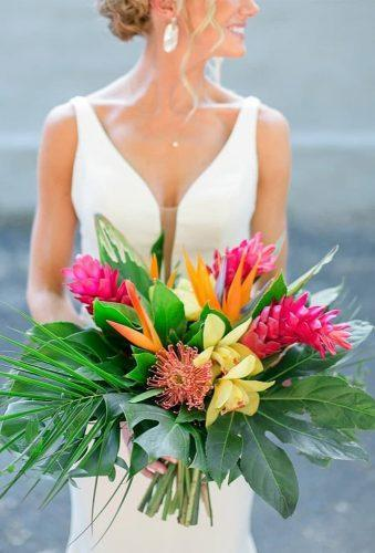 tropical wedding bouquets color bouquet for bride kmiphotography