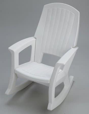 White Outdoor Rocking Chair - 600-Lb. Capacity