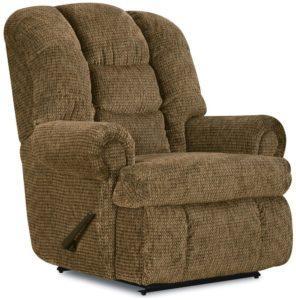 Stallion Comfort King Chaise Wallsaver Recliner Color: Brown - best recliner for heavy men