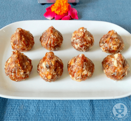 Ganesh Chaturthi celebrations are incomplete without modak, and today we have a no cook dry fruit modak recipe for kids, made with just three ingredients!