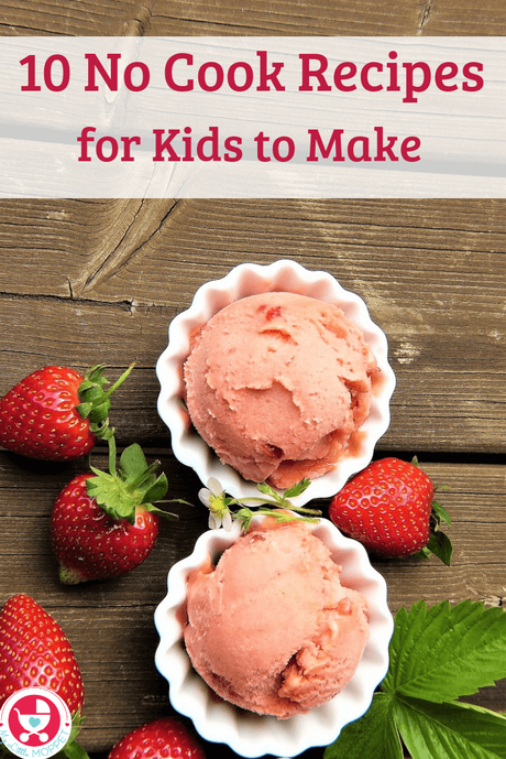 Keep kids engaged without suffering the heat - with these easy no cook recipes for kids to make this summer! Choose from pizza, pie, rolls and more!