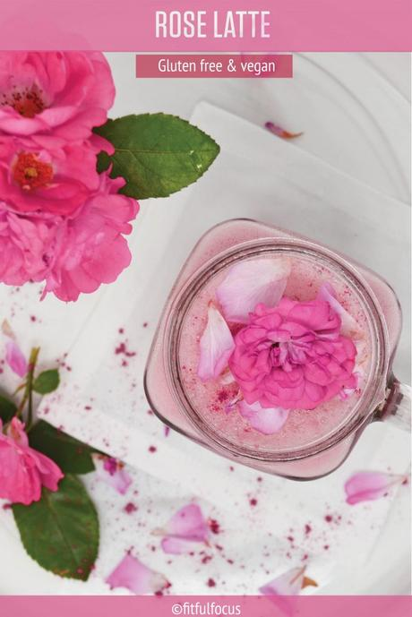 Rose Water Latte: an Easy, Dairy-Free Treat