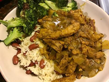 Vegan Jamaican Curried Chicken