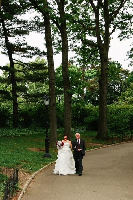 Claire and Brett's Wedding under the Angel of the Waters at Bethesda Fountain
