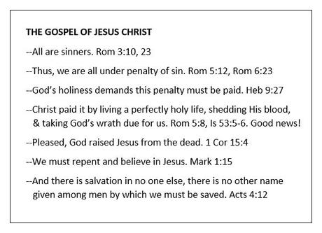 We all need the Gospel, especially the falsely assured